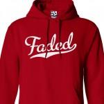 Faded Script Hoodie