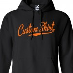 Custom Script & Tail Baseball  Hoodie
