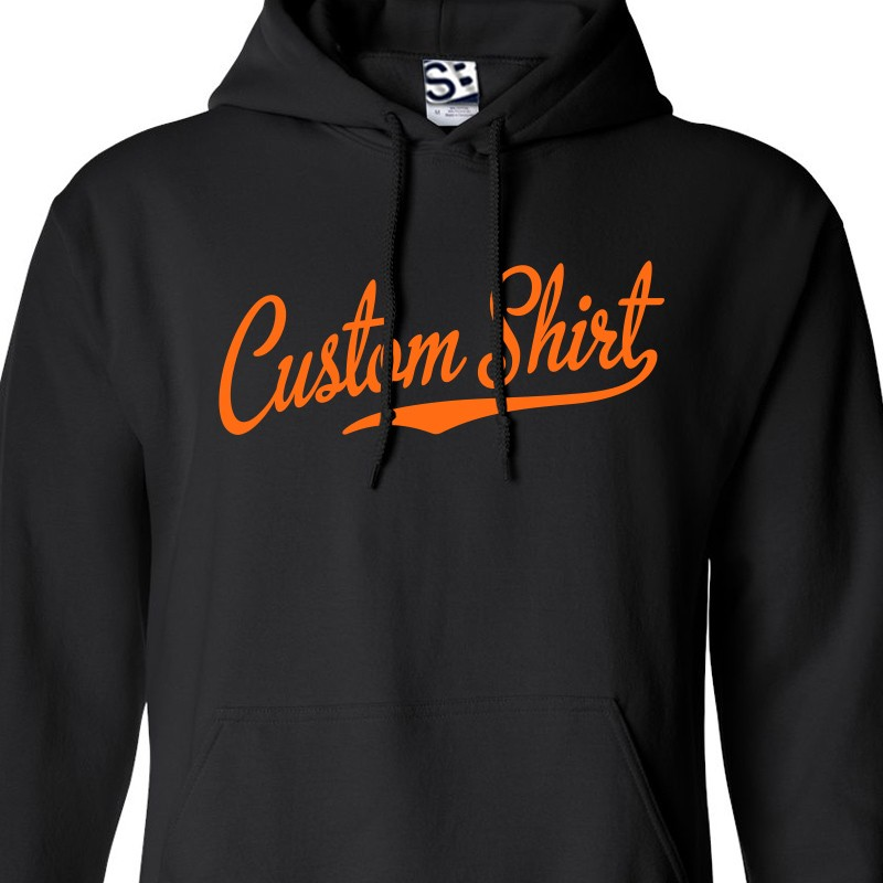 Custom Script & Tail Baseball Personalized Hoodie