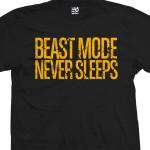 Beast Mode Never Sleeps Distressed T-Shirt