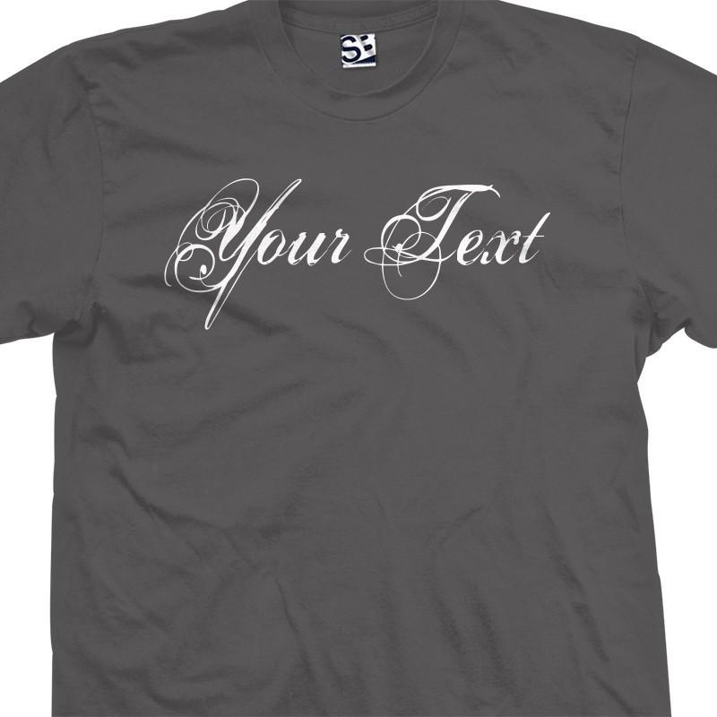 custom distressed grunge script personalized t shirt