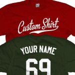 Custom Baseball Script and Tail Personalized T-Shirt
