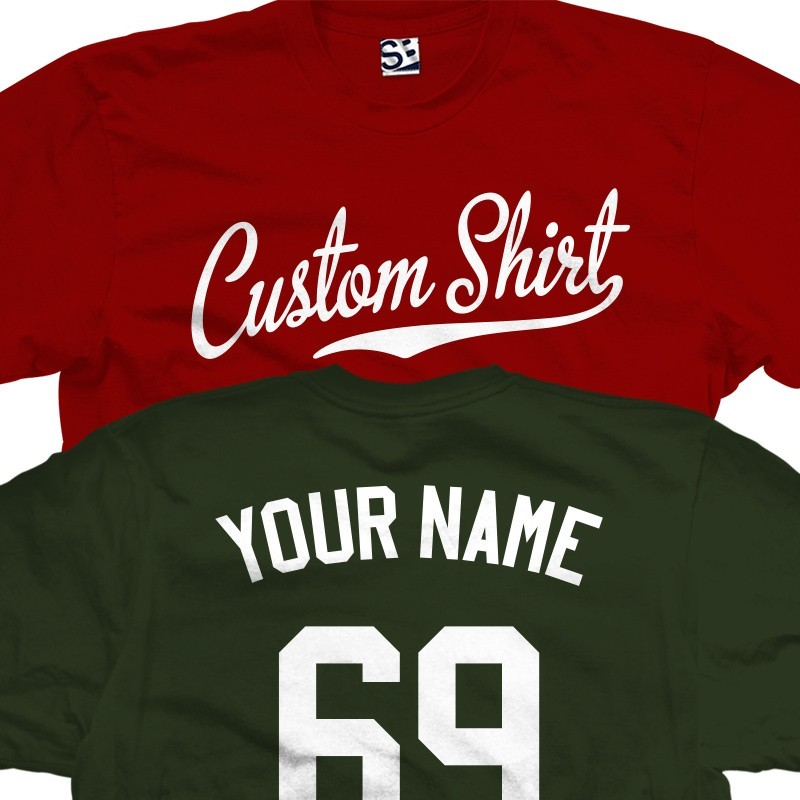 9e6cd8b2468 Custom Baseball Script and Tail Personalized T-Shirt