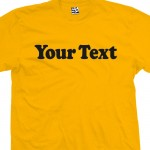 Custom Classic Cooper Font Text T-Shirt