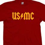 US/MC AC/DC Style Back in Black USMC T-Shirt