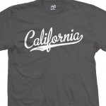 California Baseball Script T-Shirt