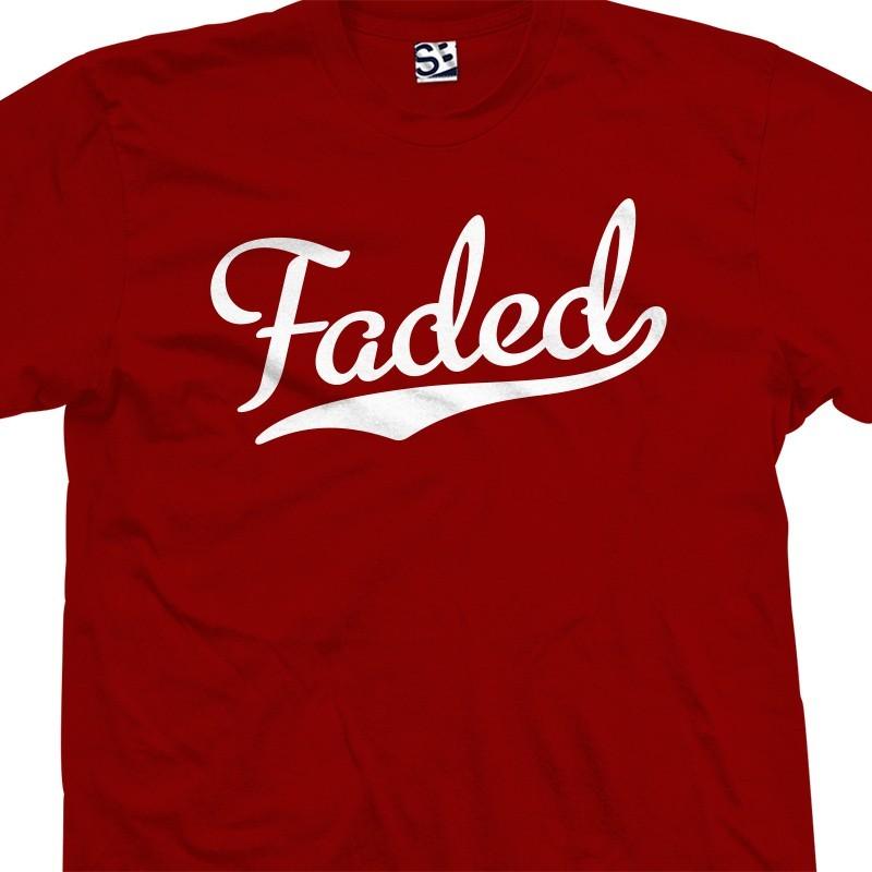 Faded Baseball Amp Softball T Shirt