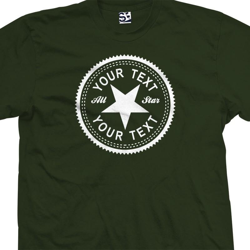 a28e45a8 Custom Inverse Converse Style Personalized T-Shirt
