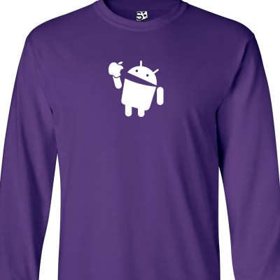 Android Eats Apple Long Sleeve Shirt