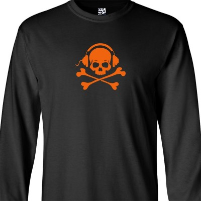Skull and Phones Long Sleeve Shirt