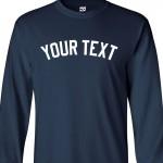 Custom Yankee Style Long Sleeve Baseball Shirt