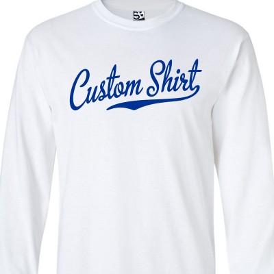 Custom Script & Tail Long Sleeve