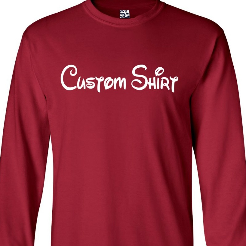custom disney style long sleeve shirt