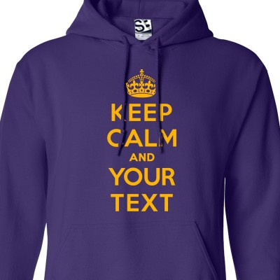 Custom Keep Calm Carry On Hoodie