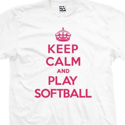 Play Softball & Keep Calm Shirt