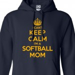 Softball Mom Can't Keep Calm Hoodie