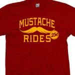 Mustache Rides T-Shirt