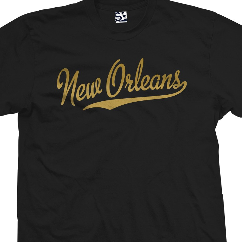 new orleans script tail t shirt