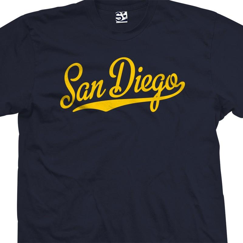 San diego script tail t shirt for Custom t shirts san diego