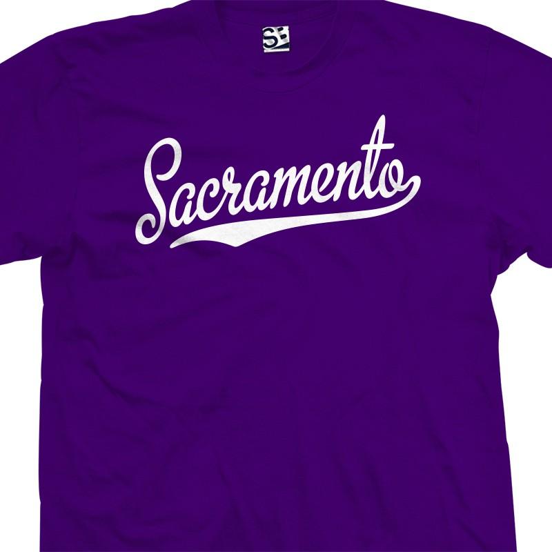 Sacramento Script Tail T Shirt
