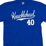 Knucklehead 40 Script T-Shirt