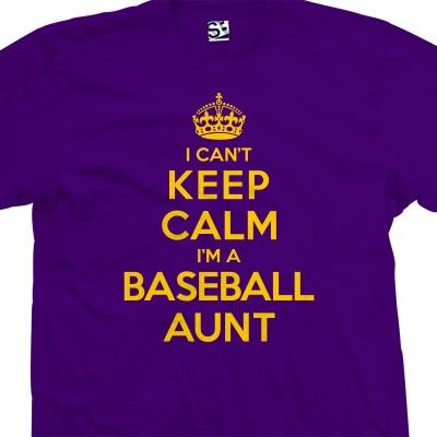 Baseball Aunt Can't Keep Calm T-Shirt
