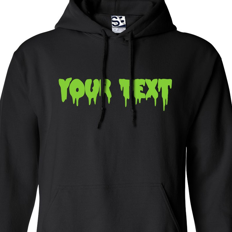custom creepy text hoodie personalize your own custom hooded