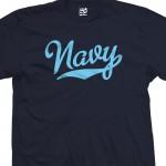 Navy Script T-Shirt