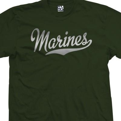 Marines Script T-Shirt