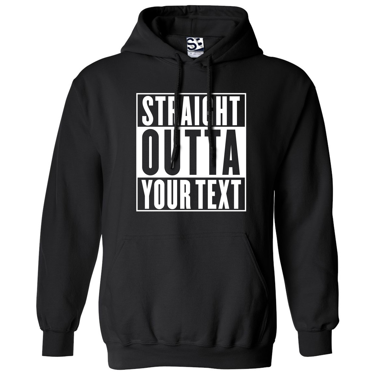 a7f47d3e Custom Straight Outta Personalized Hoodie