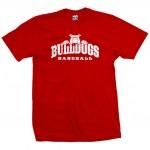 Bulldogs Baseball Top Dog Red T-Shirt