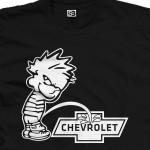 Piss on Chevy Calvin Pee Shirt