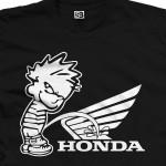 Piss on Honda Calvin Pee Shirt