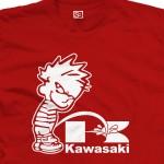 Piss on Kawasaki Calvin Pee Shirt