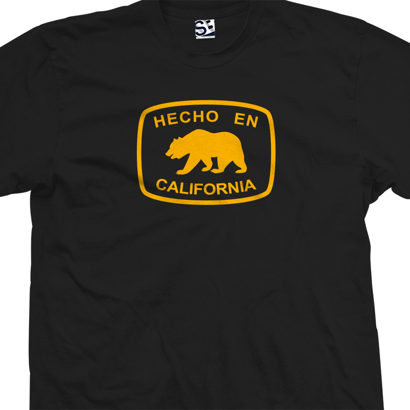 hecho en california bear t shirt. Black Bedroom Furniture Sets. Home Design Ideas