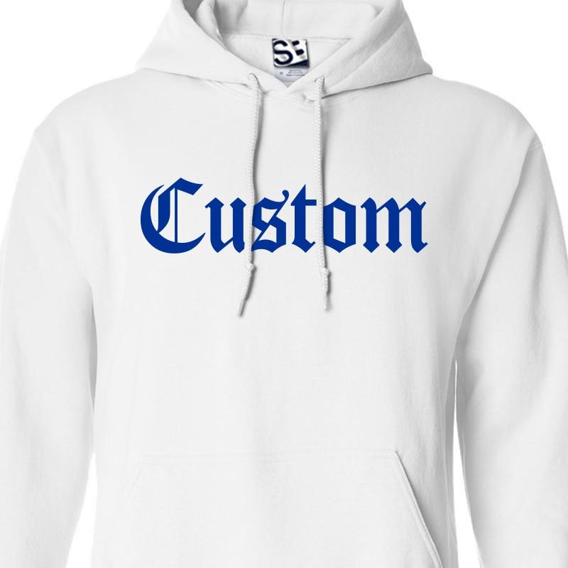 Custom Old English Gangsta Personalized Hoodie