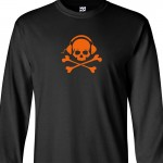 Skull and Phones Long Sleeve Shirt