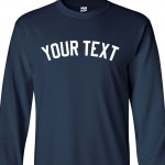 Custom Yankee Style Long Sleeve Baseball Shirt