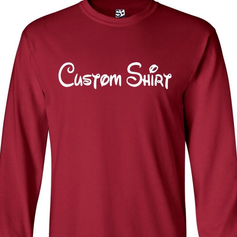 37fe75ad3ca Custom Disney Style Long Sleeve Shirt