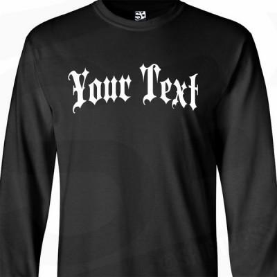 Gothic Thug Custom Long Sleeve Shirt