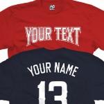Custom Angels Style Baseball T-Shirt