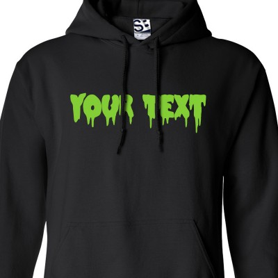 Custom Creepy Text Hoodie