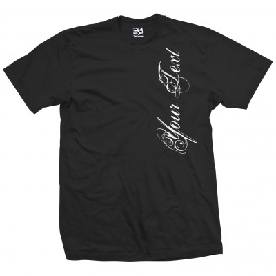 Custom Distressed Script Vert Shirt