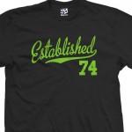 Established 1974 Script T-Shirt