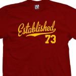Established 1973 Script T-Shirt