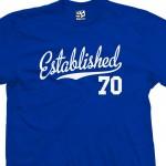 Established 1970 Script T-Shirt