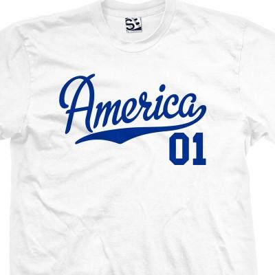 America 01 Script T-Shirt