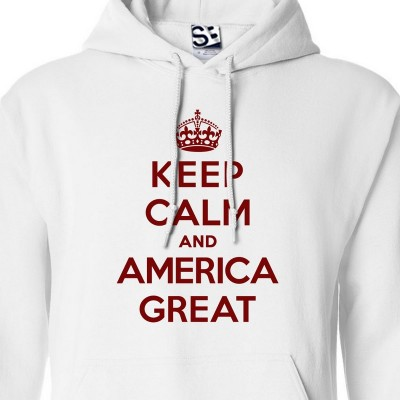 America Great Keep Calm Hoodie